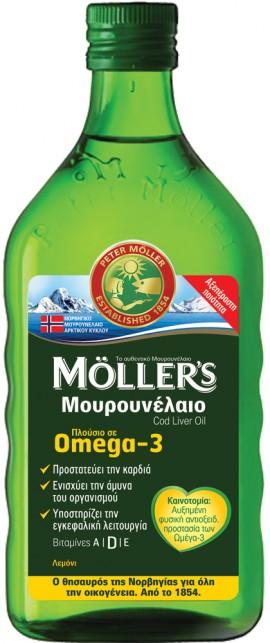Möller's Υγρό Mουρουνέλαιο Mε Γεύση Λεμόνι, 250ml