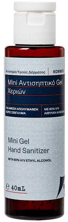 Korres Αντισηπτικό Gel Χεριών 80% Aιθυλική Αλκοόλη, 40ml