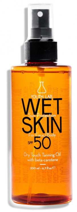 Youth Lab Wet Skin SPF50 Dry Touch Tanning Oil Face/Body, 200ml