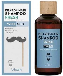 Vican Wise Men Beard & Hair Shampoo Fresh, 200ml