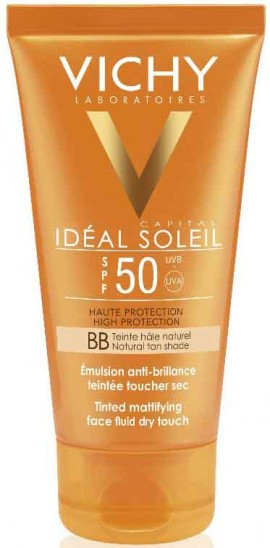 Vichy Ideal Soleil Tinted Mattifying Face Fluid Dry Touch SPF50, 50ml