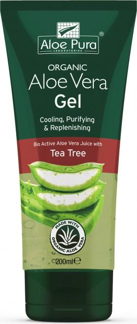 Optima Aloe Vera Gel With Tea Tree, 200ml