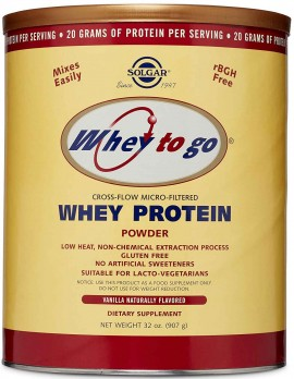 Solgar Whey to Go Protein Powder Γεύση Βανίλια, 907gr