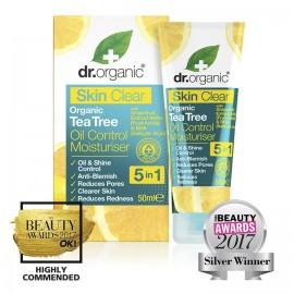 Dr. Organic Skin Clear 5 in 1 Oil Control Moisturiser, 50ml