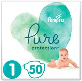 Pampers Pure Protection Νo1 (2-5Kg), 50 Τεμάχια