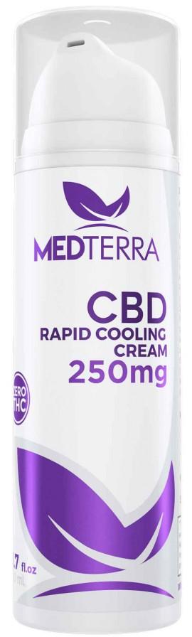 Medterra CBD Rapid Cooling Cream 250mg, 50ml