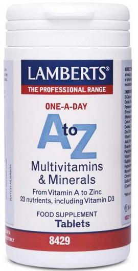 Lamberts A Τo Z Multivitamins, 30 Ταμπλέτες