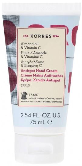 Korres Κρέμα Χεριών Antispot Mε Αμυγδαλέλαιο & Βιταμίνη C, 75ml