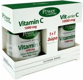 Power Health Platinum Vitamin C 1000mg 30 Tαμπλέτες & Vitamin C 1000mg 20 Tαμπλέτες