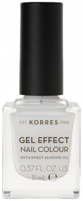 Korres Gel Effect Nail Color 01 Blanc White, 11ml