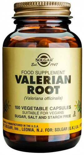 Solgar Valerian Root, 100 Κάψουλες