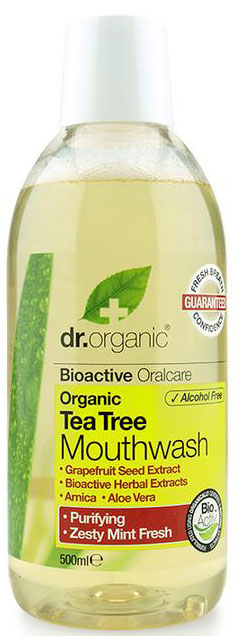 Dr. Organic Tea Tree Mouthwash, 500ml
