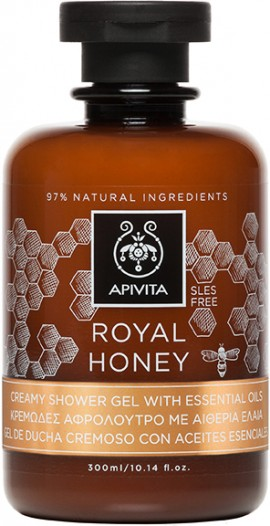 Apivita Royal Honey Shower Gel With Essential Oils, 300ml
