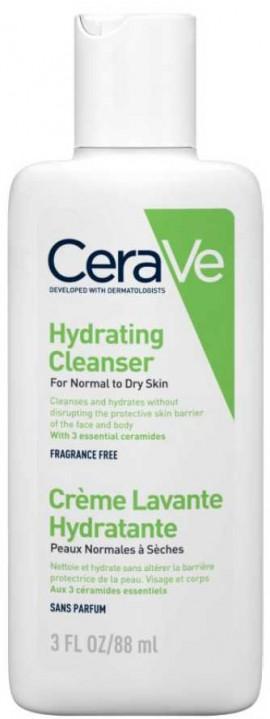 CeraVe Hydrating Cleanser Κανονική - Ξηρή Επιδερμίδα, 88ml