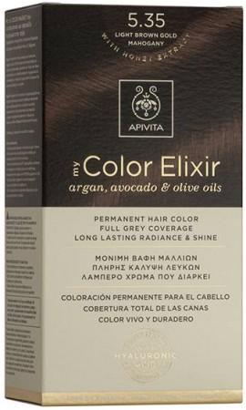 Apivita My Color Elixir 5.35 Καστανό Ανοιχτό Μελί Μαόνι