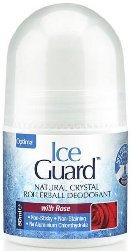 Optima Ice Guard Roll On Με Άρωμα Τριαντάφυλλο, 50ml