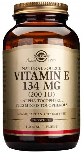 Solgar Vitamin E134mg 200IU, 250 Κάψουλες