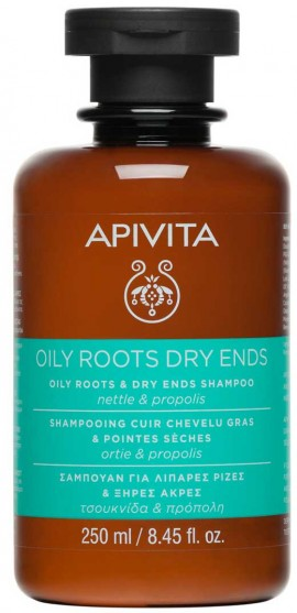 Apivita Oily Roots & Dry Ends Σαμπουάν Με Τσουκνίδα & Πρόπολη,250ml