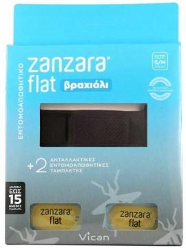 Vican Zanzara Βραχίολι Μάυρο Με Δύο Εντομοαπωθητικές Ταμπλέτες M/L