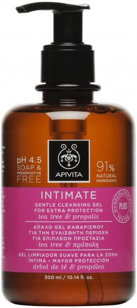 Apivita  Intimate Plus, Gel Καθαρισμού Για Την Ευαίσθητη Περιοχή,300ml
