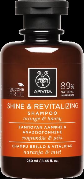 Αpivita Shine & Revitalising Σαμπουάν Με Πορτοκάλι & Μέλι, 250ml