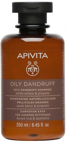 Apivita Oily Dandruff Σαμπουάν Με Λευκή Ιτιά & Πρόπολη, 250ml