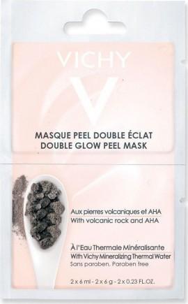 Vichy Μάσκα Διπλής Λάμψης & Απολέπισης, 2x 6ml