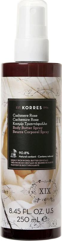Korres Body Butter Spray Κασμίρ Τριαντάφυλλο, 250ml