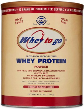 Solgar Whey to Go Protein Powder Γεύση Σοκολάτα, 1162gr