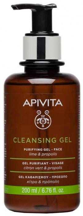 Apivita Gel Καθαρισμού με Πρόπολη & Lime, 200ml
