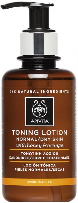 Apivita Τονωτική Λοσιόν Καθαρισμού Με Μέλι & Πορτοκάλι, 200ml
