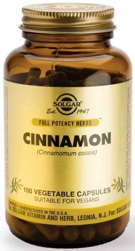 Solgar Cinnamon 500mg, 100 Κάψουλες