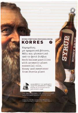 Korres Καραμέλες Με Αρωματικά Βότανα Μέλι & Γλυκαντικό Στέβια, 16 Τεμάχια