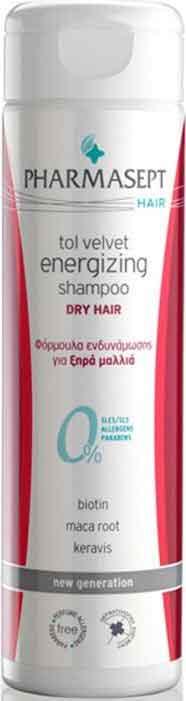 Pharmasept Tol Velvet Energizing Shampoo Dry, 250ml