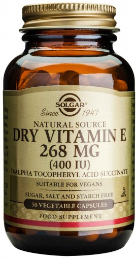 Solgar Vitamin E Dry 268mg 400IU, 50 Κάψουλες