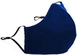 Ενηλίκων Βαμβακέρη Μάσκα Με Ρυθμιζόμενο Λαστιχάκι Μπλέ, 1 Τεμάχιο