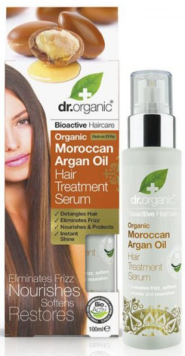 Dr. Organic Moroccan Argan Oil Hair Treatment Serum, 100ml