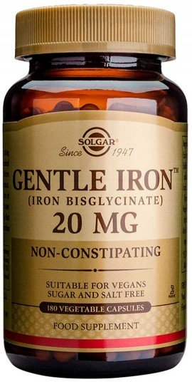 Solgar Gentle Iron 20mg, 180 Κάψουλες