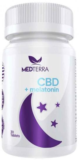 Medterra CBD + Melatonin, 30 Ταμπλέτες