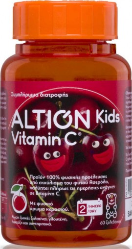 Altion Kids Vitamin C, 60 Ζελεδάκια
