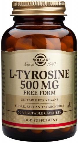 Solgar L- Tyrosine 500mg, 50 Κάψουλες