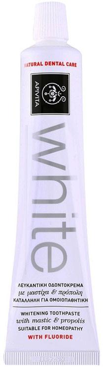 Apivita White Λευκαντική Οδοντόκρεμα Με Μαστίχα & Πρόπολη,75ml