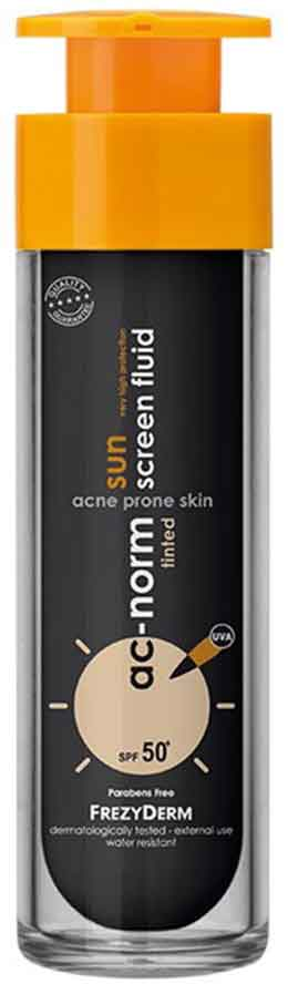 Freyderm Ac-Norm Sun Screen Tinded Fluid SPF50, 50ml