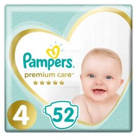 Pampers Premium Care Jumbo Pack Νο4 (8-14 kg), 52 Τεμάχια