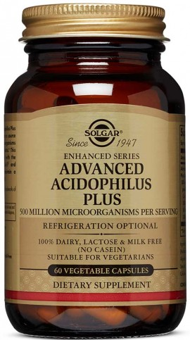 Solgar Advanced Acidophilus Plus, 60 Κάψουλες