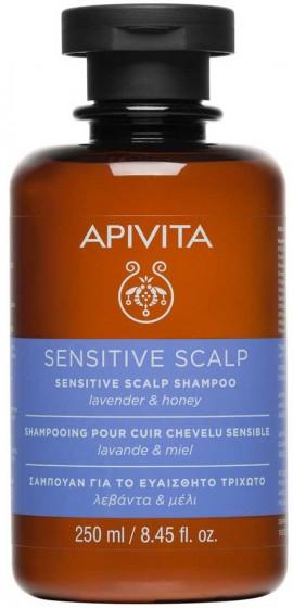 Apivita Sensitive Scalp Σαμπουάν Με Λεβάντα & Μέλι, 250ml