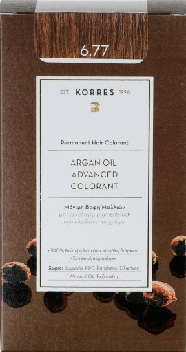 Korres Argan Oil Advanced Colorant 6.77 Πραλίνα, 50ml