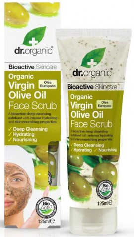 Dr. Organic Virgin Olive Oil Face Scrub, 125ml