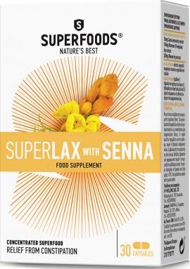 Superfoods Superlax With Senna, 30 Κάψουλες