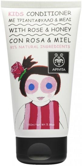 Apivita Kids Conditioner με Τριαντάφυλλο & Μέλι,150ml